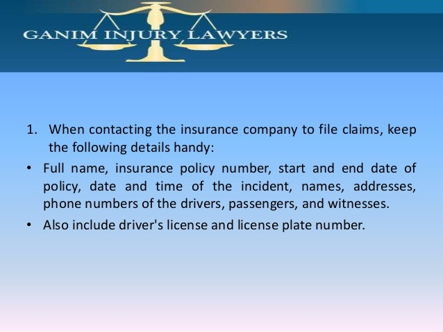 How To File A Car Accident Claim Attorney Ganim