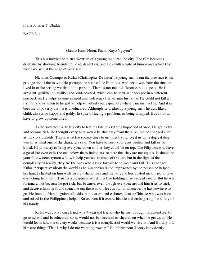 Term paper on movies