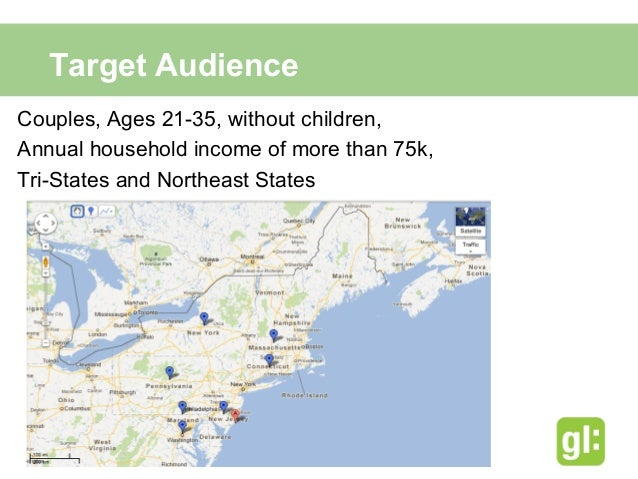 Target Demographic• More likely than average to visit to casinos, museums,     shows, theaters, beaches, concerts, comedy...