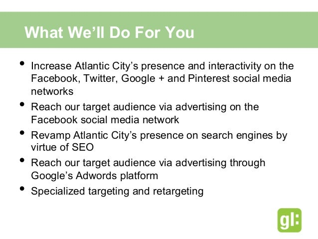 Paid Media• Advertise evenly on Facebook and Google AdWords• Clicks Not Impressions• Instantly visible• Real time anal...