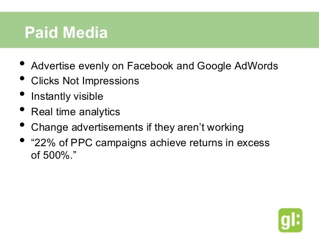 Facebook Advertising• March 1st, 2013 – February 28th, 2014• $0.90 Cost Per Click• 2.3 Million Demographic• Promote th...