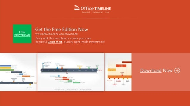 Gantt Chart Template Editable In Powerpoint - Wide Screen