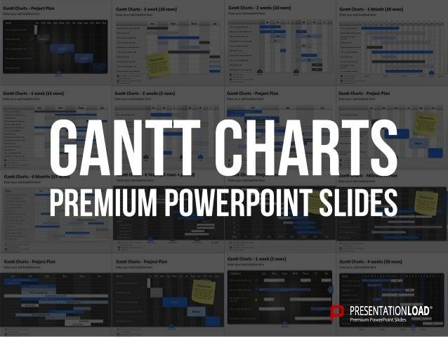 Powerpoint Gantt Charts Template