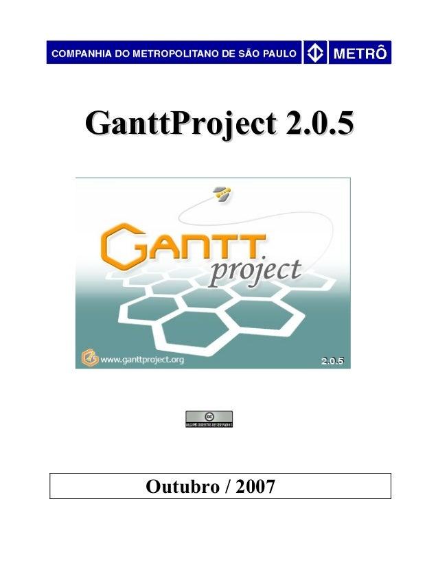 GanttProject 2.0.5GanttProject 2.0.5 Outubro / 2007