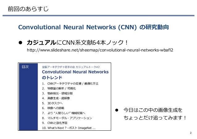 Adversarial Networks の画像生成に迫る @WBAFLカジュアルトーク#3 Slide 3
