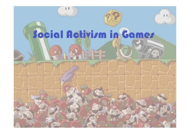 Social Activism in Games