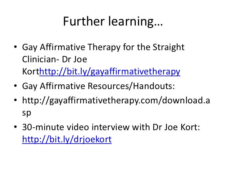 what is affirmative therapy joe kort pdf