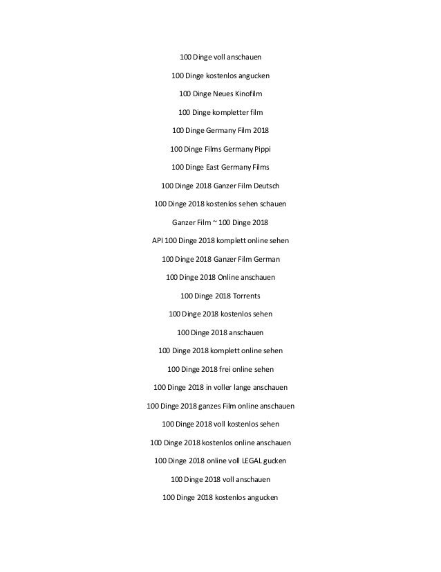 100 Dinge Streamcloud