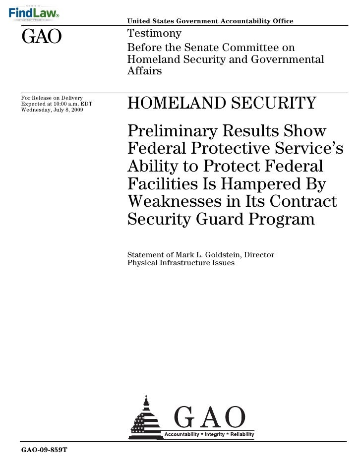 United States Government Accountability Office  GAO                          Testimony                              Before...