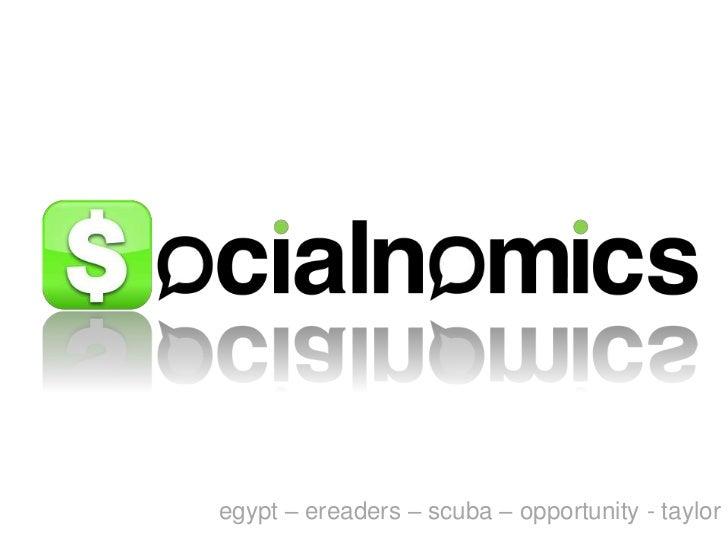 egypt – ereaders – scuba – opportunity - taylor<br />