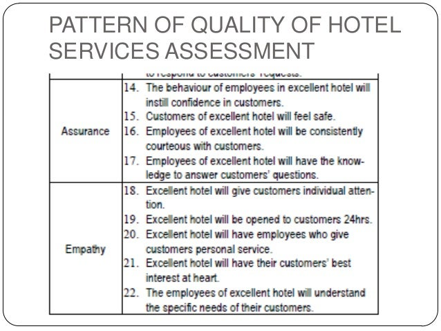 Dissertation service quality hotels