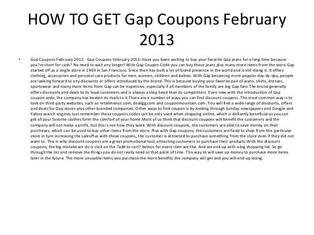 gap coupons february 2013 2