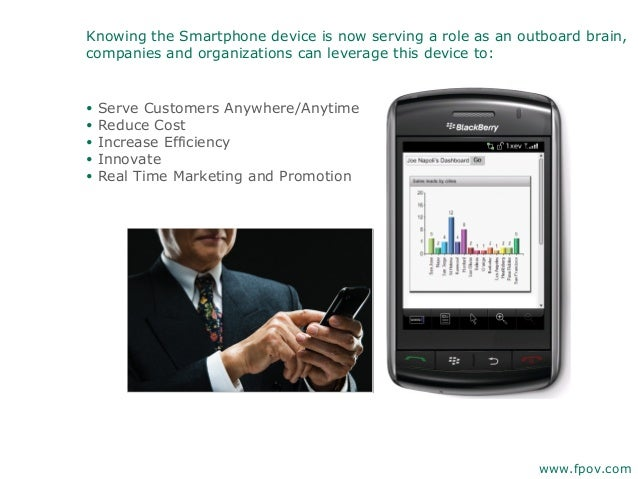 Knowing the Smartphone device is now serving a role as an outboard brain,companies and organizations can leverage this dev...