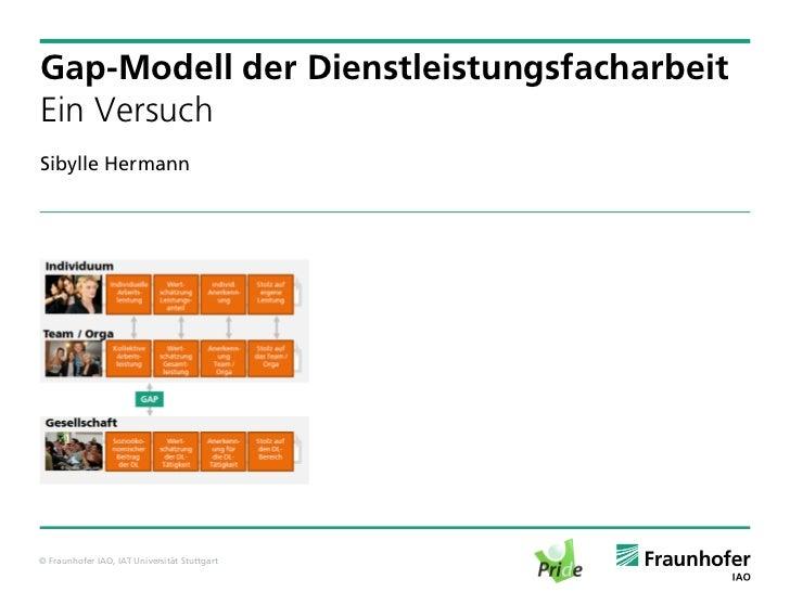 Gap-Modell der DienstleistungsfacharbeitEin VersuchSibylle Hermann© Fraunhofer IAO, IAT Universität Stuttgart