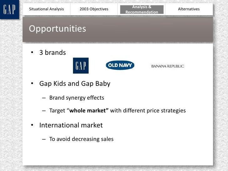 gap inc target market