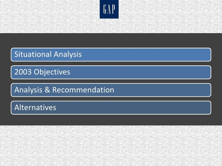 gap case analysis A traditional gap analysis looks at your company's current state of affairs, compares it to where you want your company to be, and then proposes a plan to fill in the gaps.