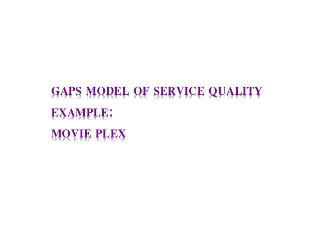 GAPS MODEL OF SERVICE QUALITY EXAMPLE: MOVIE PLEX