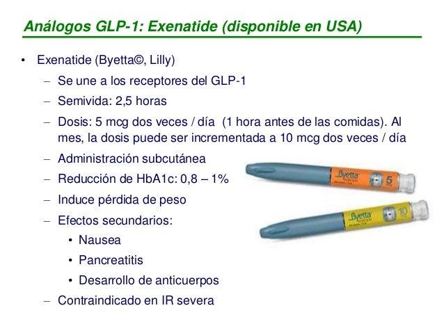 Análogos GLP-1: Exenatide: resumen ensayos clinicos Fuente: Informe EMEA, 2006