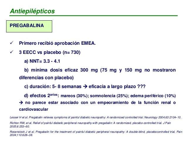 VENTAJAS PREGABALINA vs GABAPENTINA - No interacciones farmacológicas - Administración c / 8h ó c / 12h PERO - No estudios...