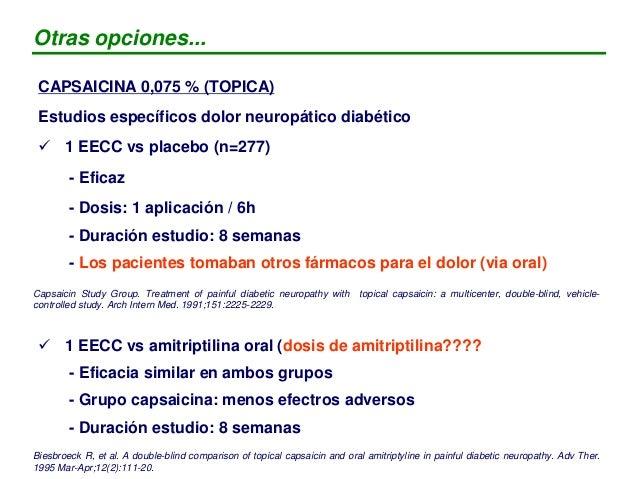 LIDOCAINA 5 % (PARCHE)  1 EECC abierto en dolor neuropático diabético (n=56) - muestra eficacia pero... - duración: 3 sem...