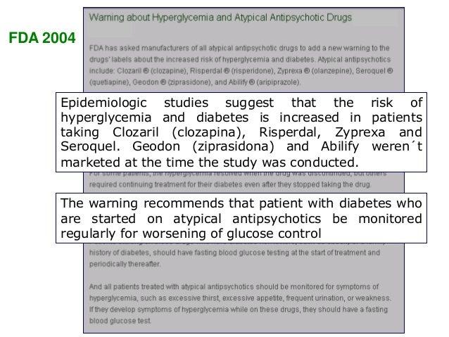 Consenso de la American Diabetes Association y American Psychiatrist Association en relación al tratamiento con fármacos a...