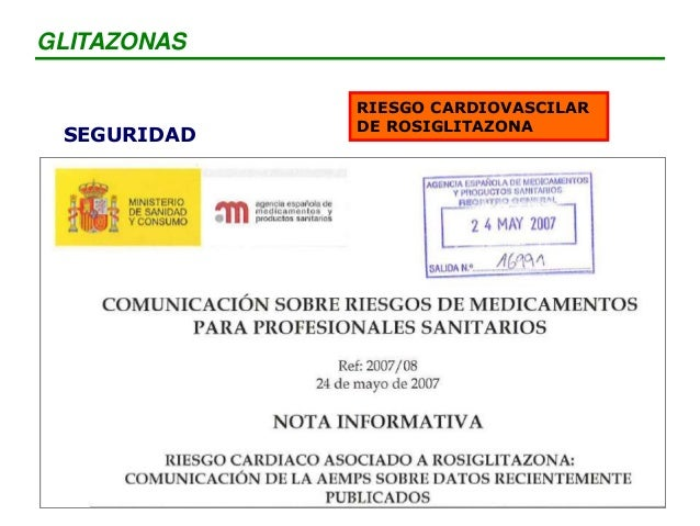 SEGURIDAD RIESGO CARDIOVASCILAR DE ROSIGLITAZONA GLITAZONAS