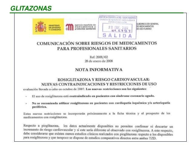 PRINCIPIO ACTIVO NOMBRE COMERCIAL Repaglinida NOVONORM, PRANDIN Nateglinida STARLIX Pioglitazona ACTOS Pioglitazona + Metf...