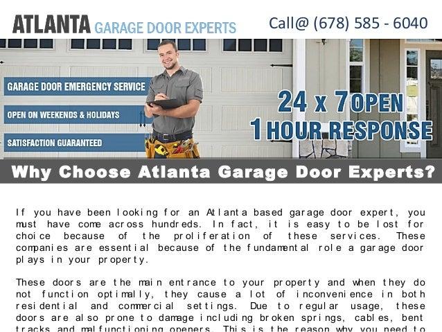 Garage Door Experts In Atlanta