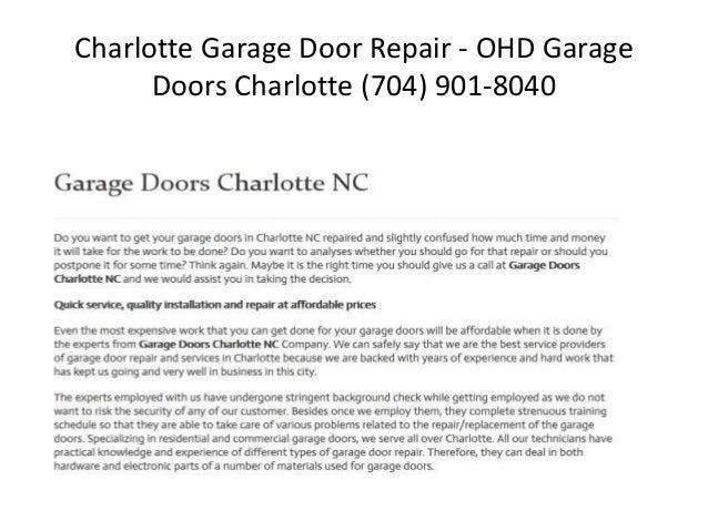 Charlotte Garage Door Repair Slide 2