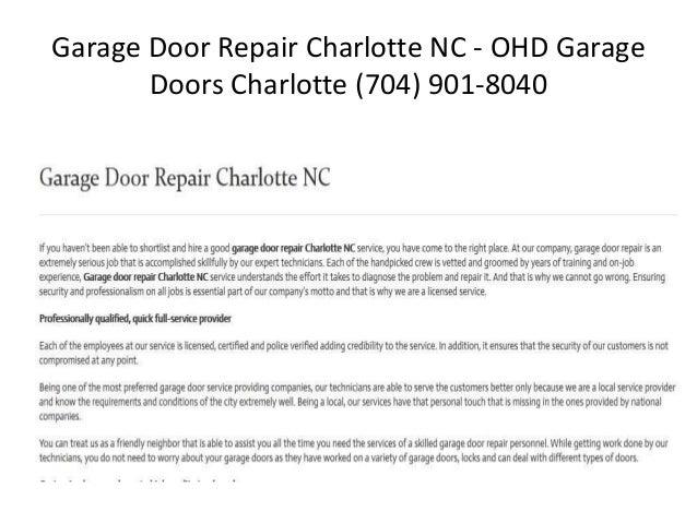 Charlotte Garage Door Repair Slide 3