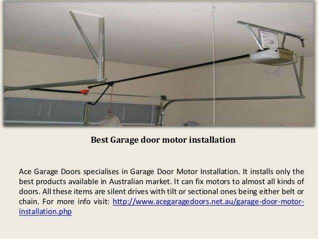 ... 3. Best Garage door motor installation ...  sc 1 st  SlideShare & Garage Door Motor Roller Door Installation in Sydney