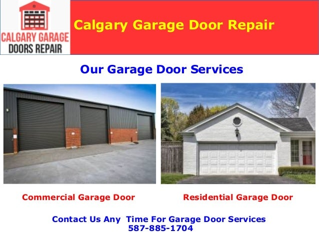 Garage Door Repair And New Installation Services Calgary