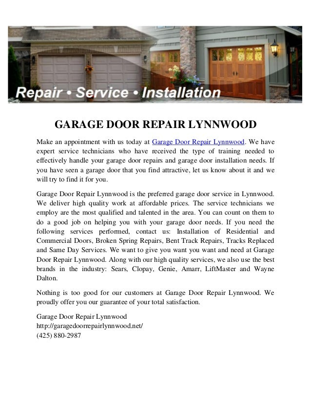 Garage Door Repair Lynnwood 1 638gcb1444367174