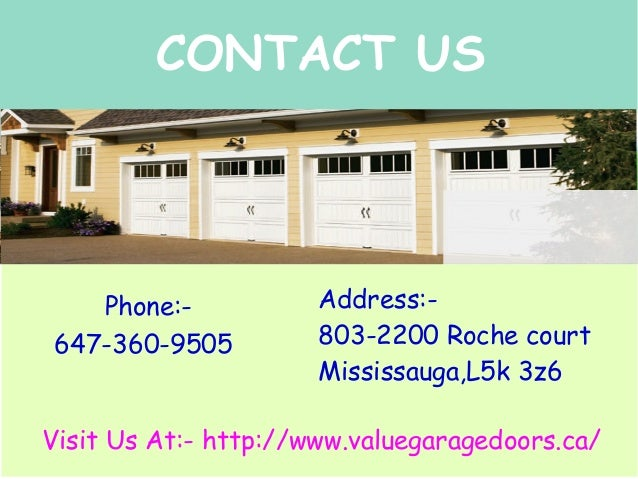 Garage door repair mississauga value garage doors for Garage door repair dickinson