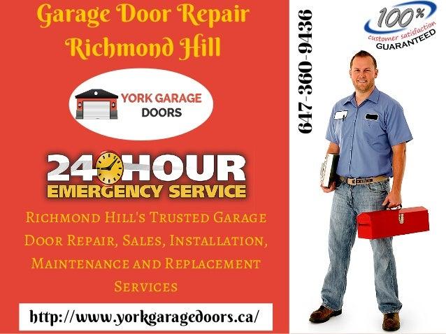 Garage Door Repair Richmond Hill Maintenance Opener Installation