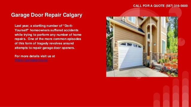 Awesome Garage Door Repair Calgary ...