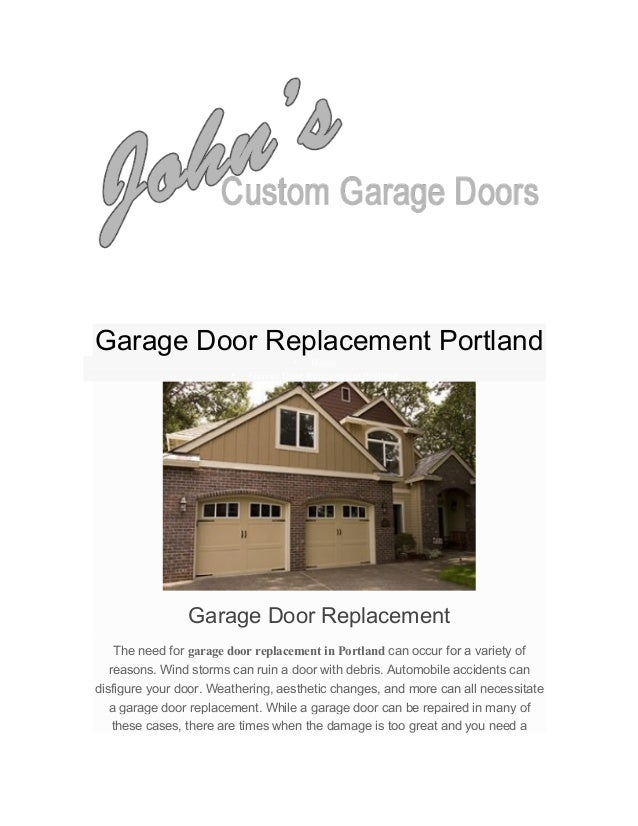 Garage Door Replacement Portland • Home • Garage Door Replacement Portland Garage Door Replacem...