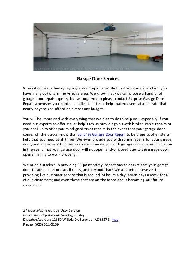 Surprise Garage Door Services