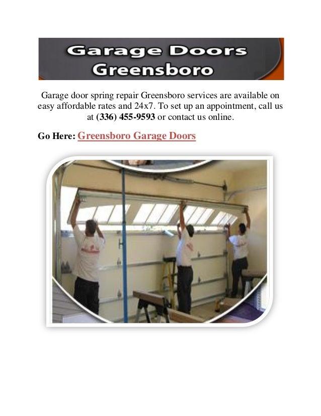 Garage Door Spring Repair Greensboro