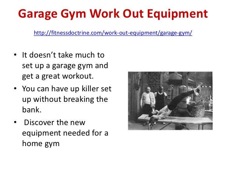 Garage gym set up essential equipment
