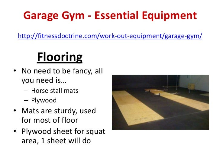 Garage gym equipment list ppi