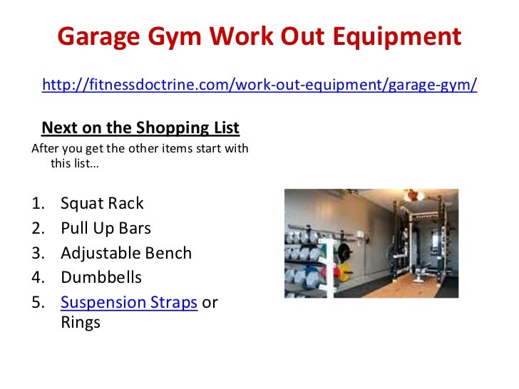 Garage gym set up essential equipment