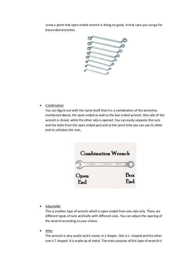 types of wrenches names. there may; 2. come types of wrenches names
