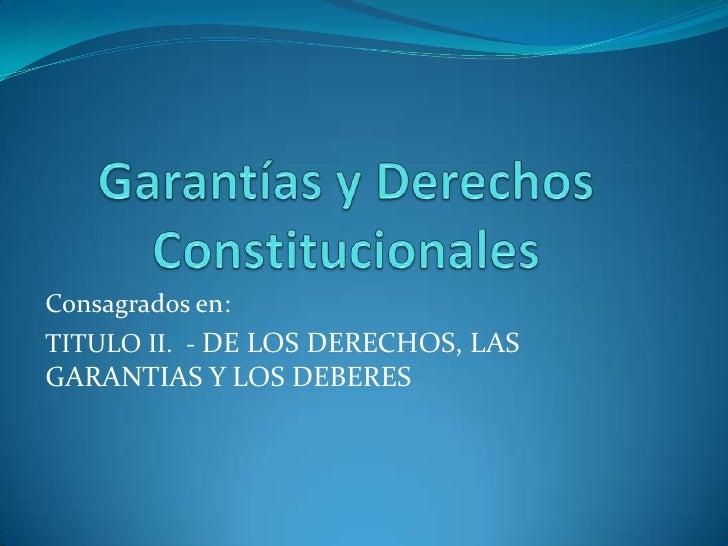 garant u00edas y derechos constitucionales