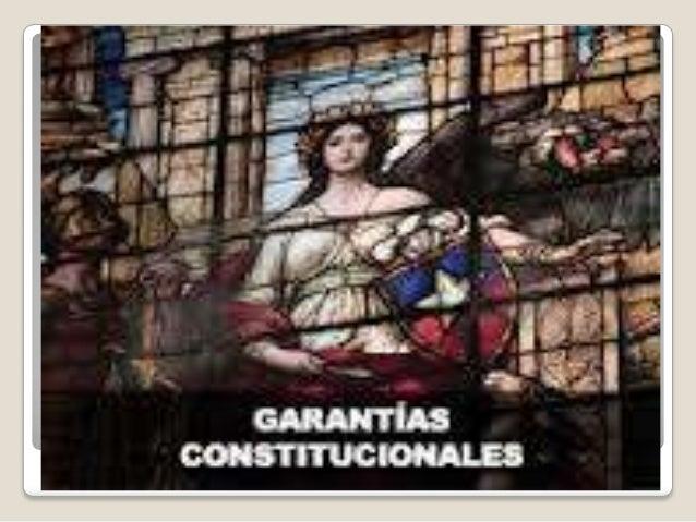GarantíasConstitucionales