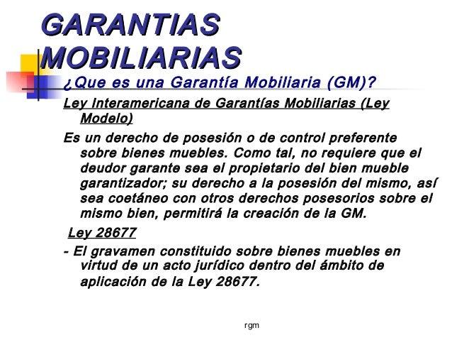 garantias mobiliarias