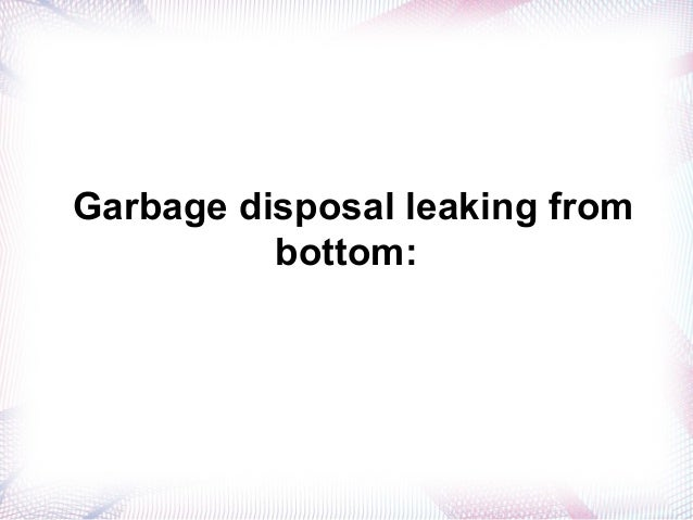 Garbage Disposal Leaking: Easy Steps To Fix It