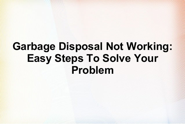 How do you reset a garbage disposal?