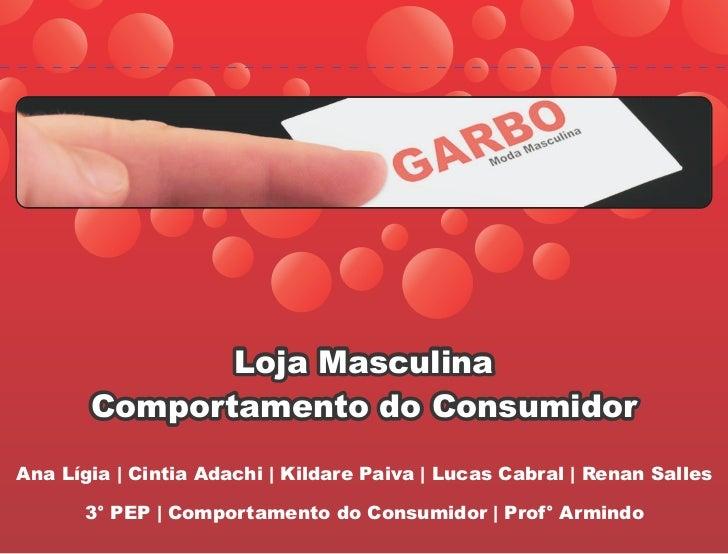 Loja Masculina       Comportamento do ConsumidorAna Lígia | Cintia Adachi | Kildare Paiva | Lucas Cabral | Renan Salles   ...