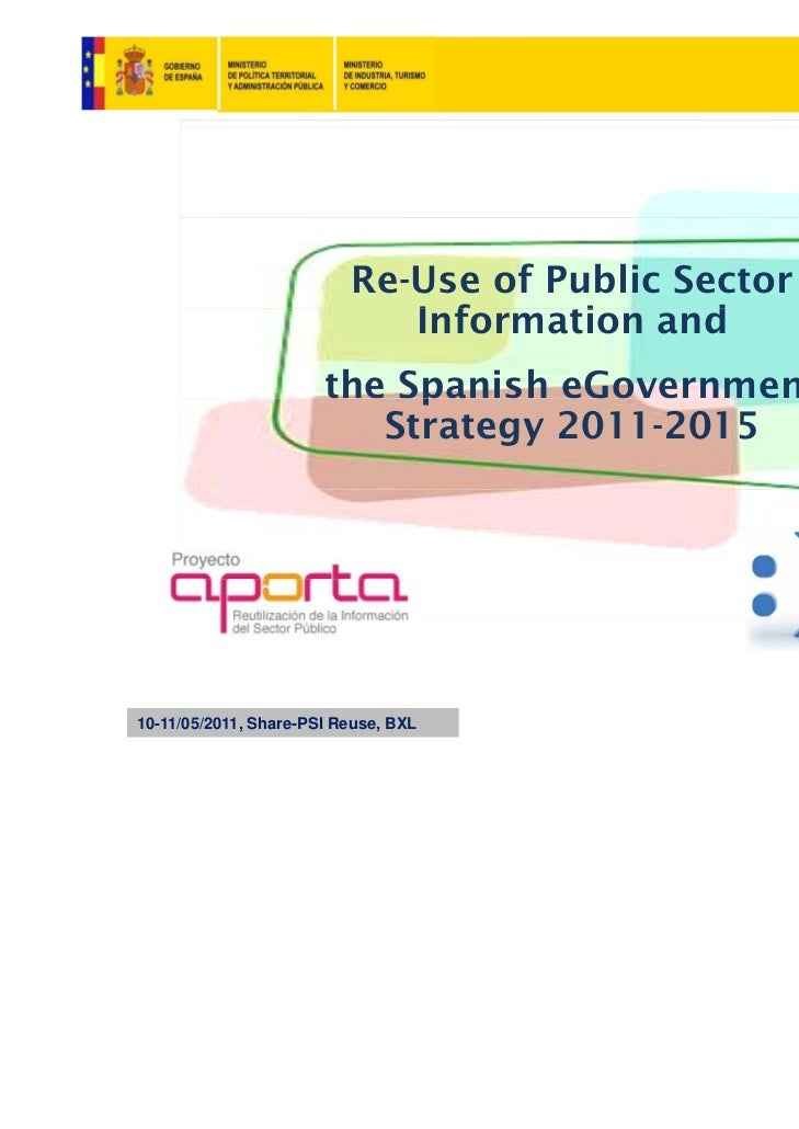 Re-Use of Public Sector                             Information and                             I f      i     d          ...